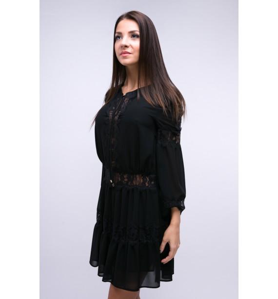 Sukienka czarna krótka z koronką