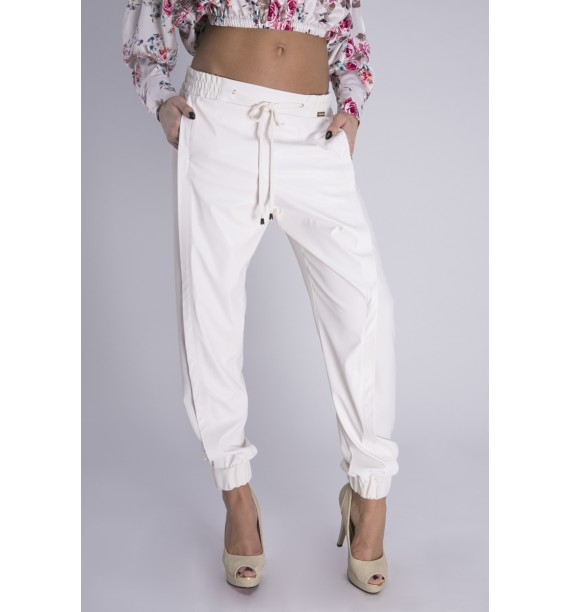 Spodnie ecru