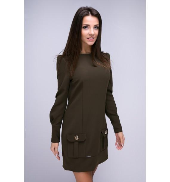 Sukienka krótka khaki