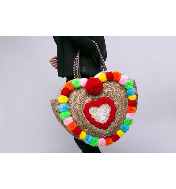 Kosz plażowy w kształcie serca