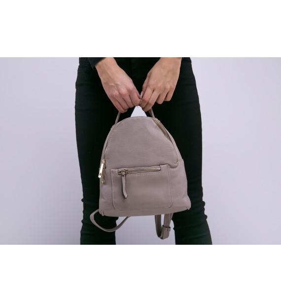 Plecak damski beżowy mini