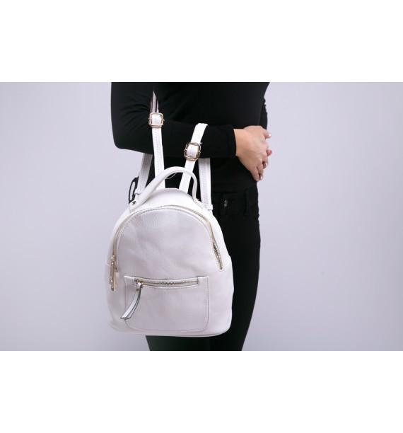 Plecak damski biały mini