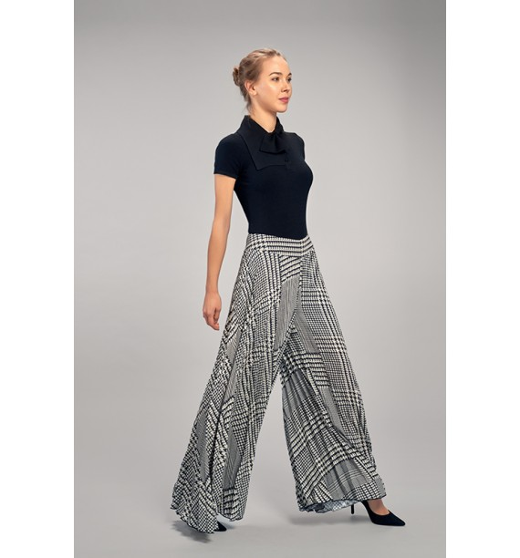 spodnie szerokie plisowane
