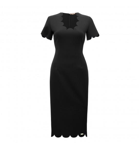 Sukienka czarna z ozdobnym tyłem
