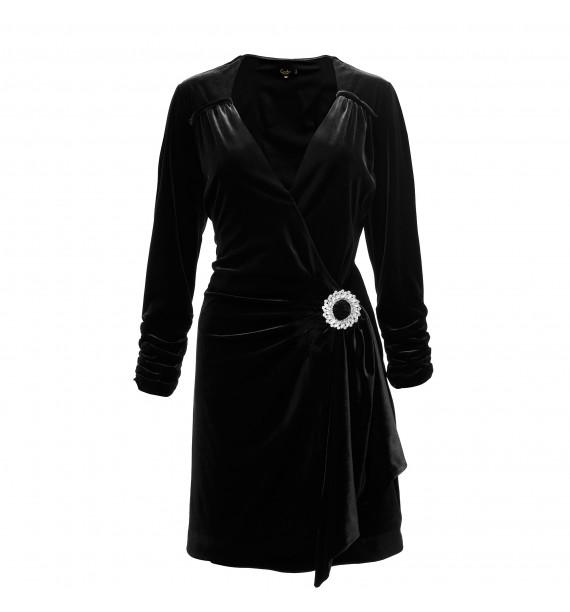 Sukienka velvet krótka