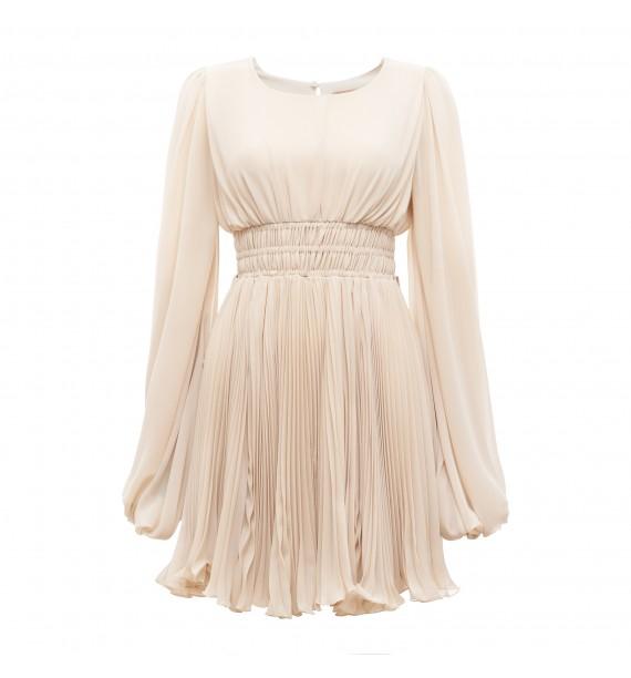 Sukienka krótka beżowa