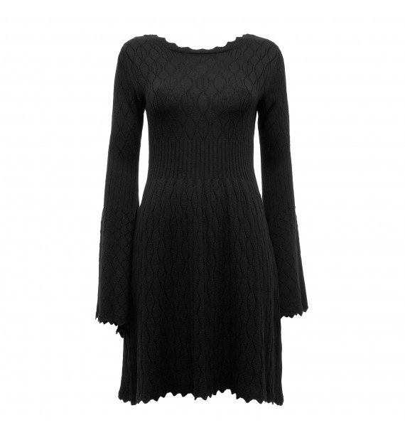 Sukienka czarna dzianinowa