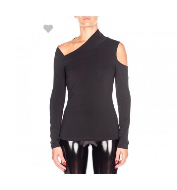 Bluzka czarna asymetryczna