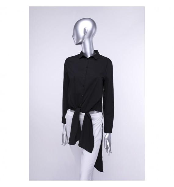 Koszula damska czarna z długim rękawem